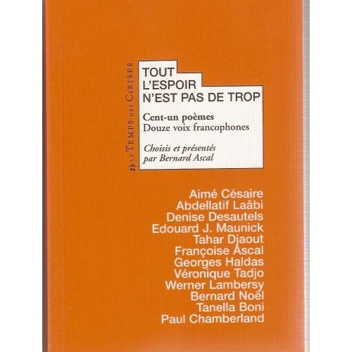 Bernard ASCAL / TOUT L'ESPOIR...