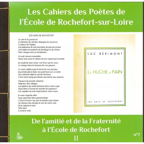 CAHIER DES POÈTES N°7 / DE L'AMITIÉ
