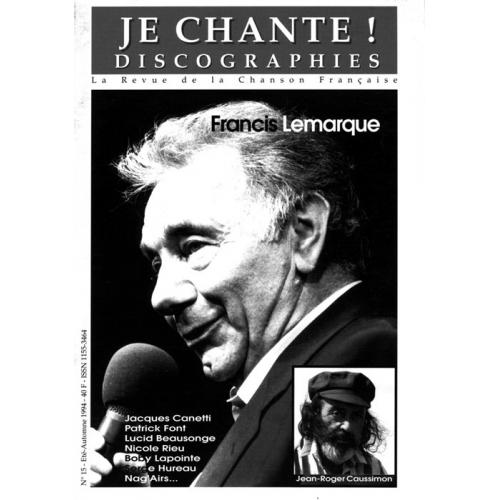 Francis LEMARQUE / Je Chante
