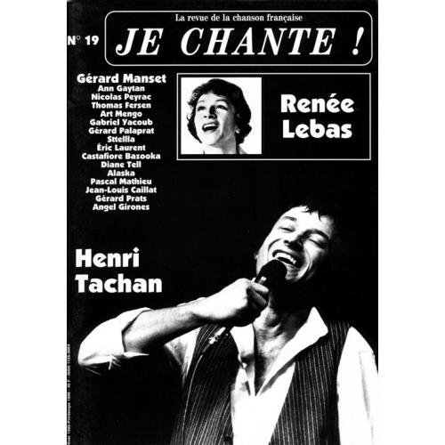 Henri TACHAN / Je Chante